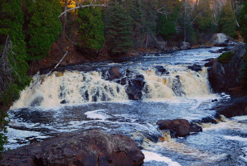 Water cascades over Two Step Falls on the Baptism River.