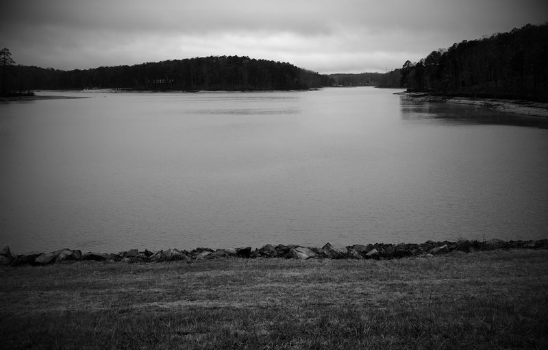 While in Fort Yargo State Park, take a second to look out over the lake and enjoy the view.