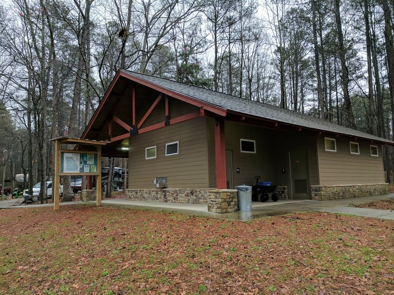 If you need to clean up after a few days of camping or using the state park's trails, check out this nice bathhouse located near Campground #2.
