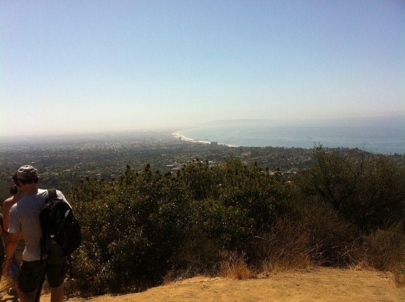 The Temescal Ridge Trail quickly gains altitude, offering you gorgeous views of Santa Monica and the Pacific Ocean.