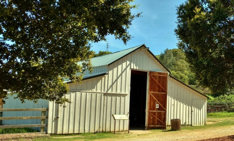 The old ranch barn still stands as a window into the area's past.