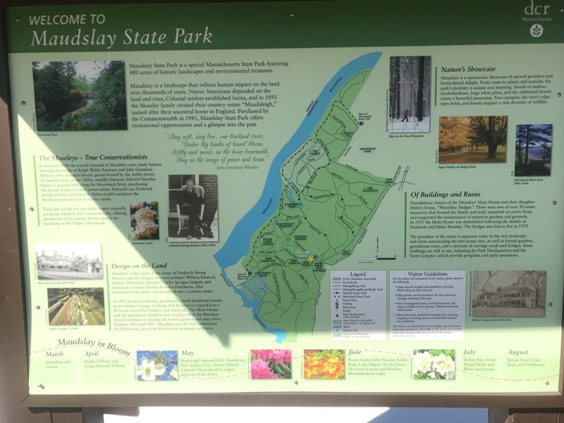 An information kiosk near the parking area gives you insight into the park's trails, history, and flora/fauna.