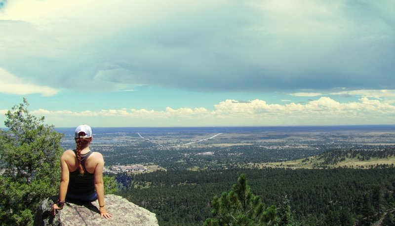 Enjoy fantastic views out over Boulder from the Saddle Rock Trail.