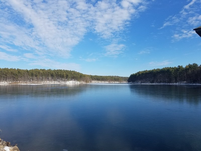 North Reservoir's glassy water provides a beautiful view from the Skyline Trail.