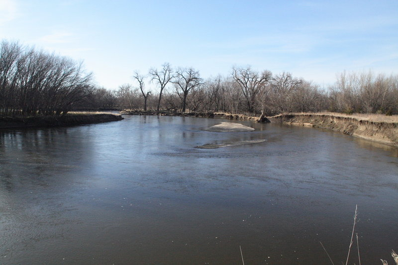 The Big Sioux River meanders along in the spring.