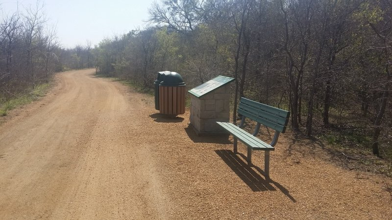 A nice rest area located along the trail provides a good chance to relax and catch up on information about the local habitat.