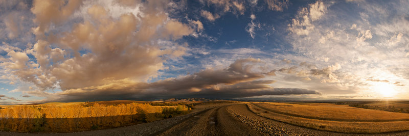 A rich canvas of clouds floats above the Mill Creek Dam in Walla Walla, WA.