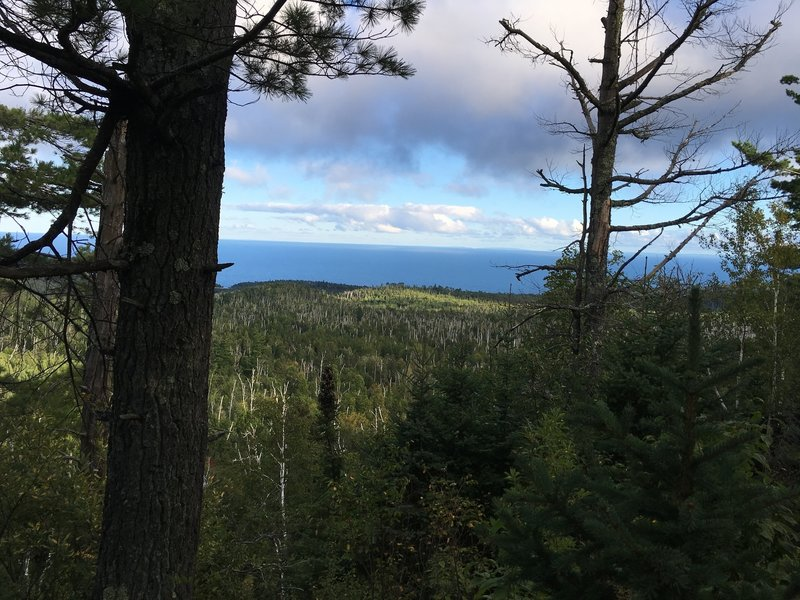 """On top of """"The Drainpipe,"""" look out toward Lake Superior to experience a phenomenal view."""