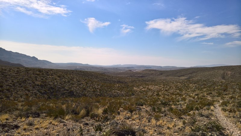 Looking south to Boquillas, enjoy a big sky and beautiful desert views.