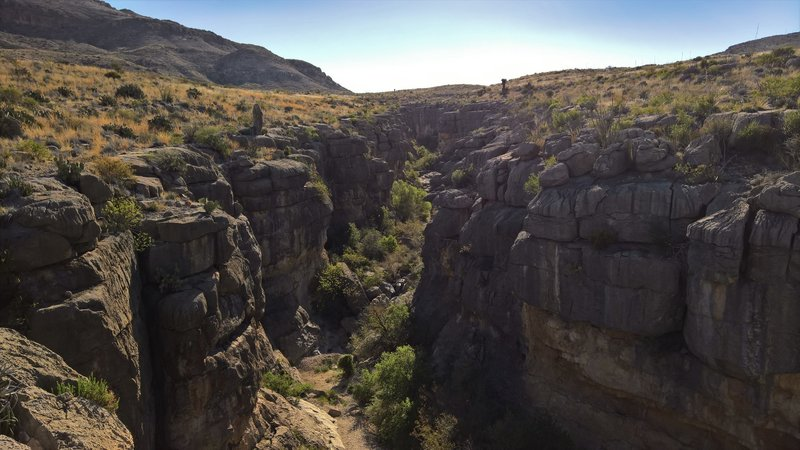 Devil's Den Wash heads through this canyon.