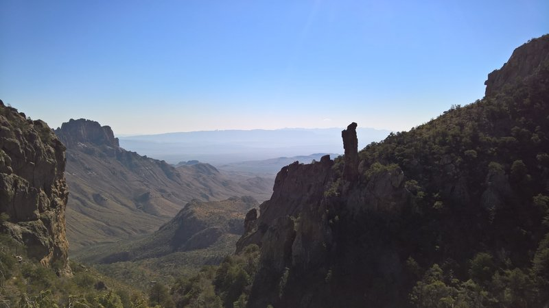 The pristine Boot Canyon stands with Sierra del Carmen in the background.