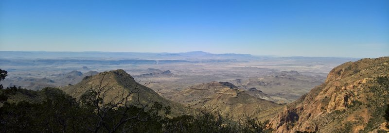 From the Southwest Rim Trail, bask in expansive views of the desert below.