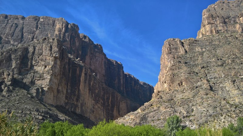This is the eastern mouth of Santa Elena Canyon.