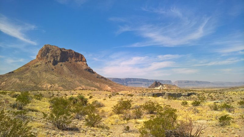 Right after hopping out of the car at the Tuff Canyon Trail, look to the southwest for stunning views of Cerro Castellan.