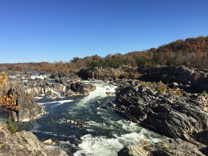 Great Falls Overlook offers an interesting look into the river's carved path through the rock.