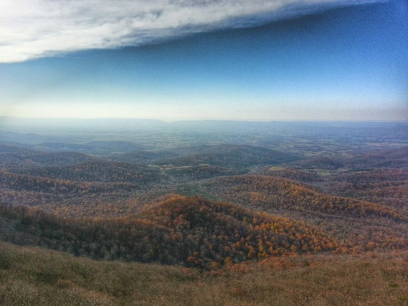 Mary's Rock offers an incredible view out over the area's rolling hills.