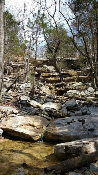 Enjoy this trickling waterfall on Buzzards Roost.