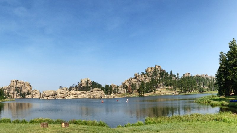 Sylvan Lake is made beautiful on a sunny summer day.