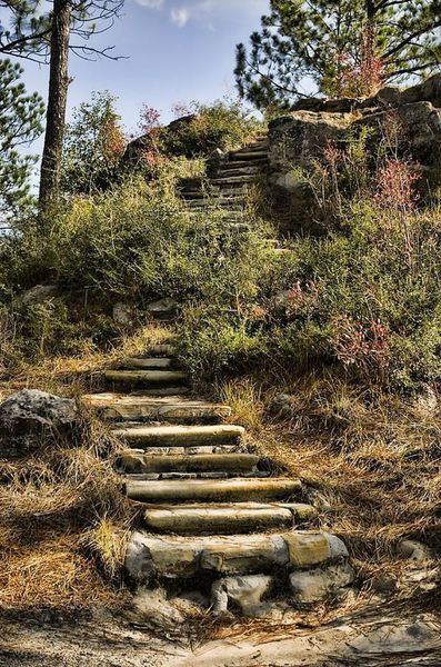 These steps lead up to the vista.