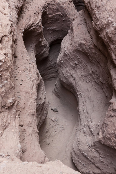 You get a true sense of the Ladder Canyon Trail's steep-sided passage when looking from above.