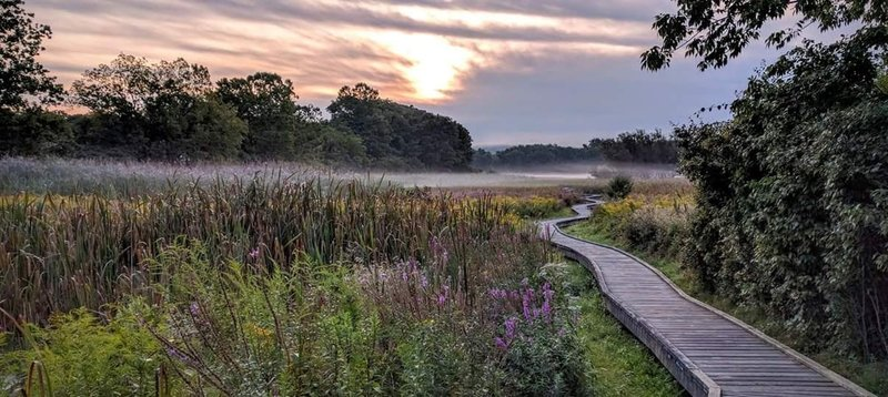 A few steps onto the Appalachian Trail Boardwalk and this view already makes it a perfect morning.