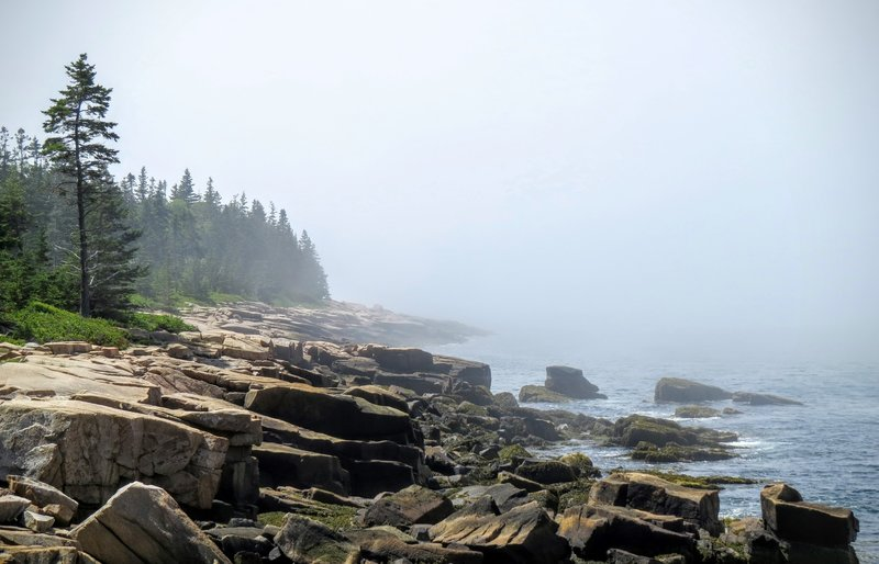 Hop across the road from the Anvil Trail to soak up this gorgeous Schoodic Peninsula coastal landscape.