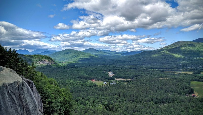 Echo Lake State Park's Cathedral Ledge offers a gorgeous look into North Conway and the Whites.