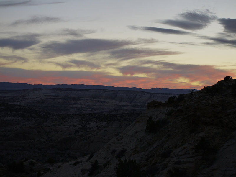 Escalante twilight... fortunately the car has been spotted.