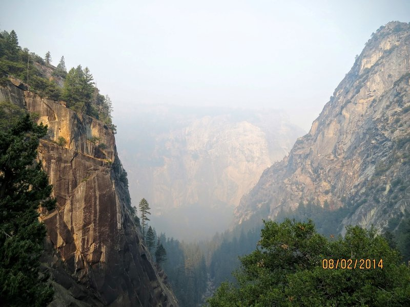 The Mist Trail follows the Merced River up a gorgeous canyon.