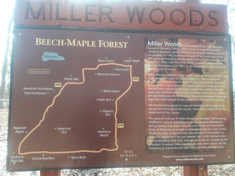 An informative sign at the trailhead shows you a map of the area and some of its history.