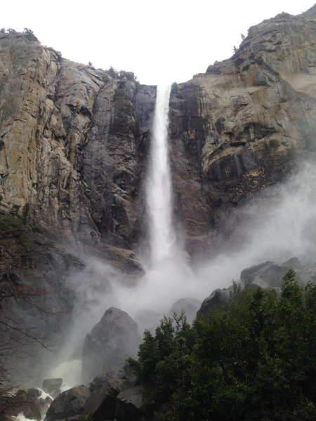 Bridalveil Falls is beautiful all year, but especially in the spring after 2017's heavy rain and snowfall.