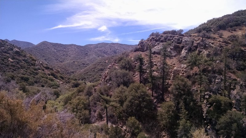 Lion Canyon Trail offers great views of the surrounding mountainscape.