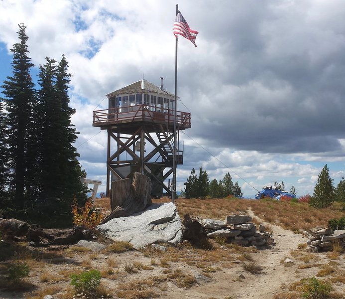 Granite Mountain Lookout tops out at 8,478 feet.