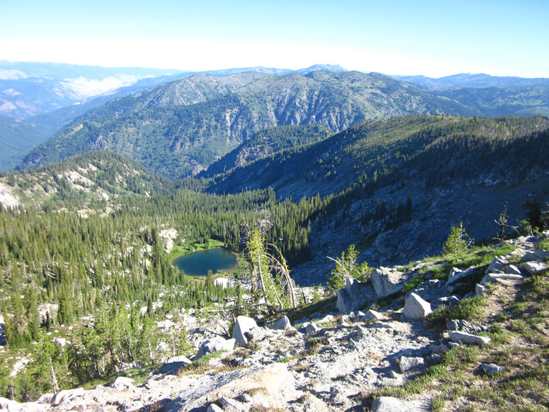 Looking north from the summit toward the Grass Mountains, Hard Butte is off in the distance.