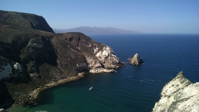 Experience exceptional views of Potato Harbor and the west end of Santa Cruz Island, 16 miles in the distance, from the end of Potato Harbor Road.