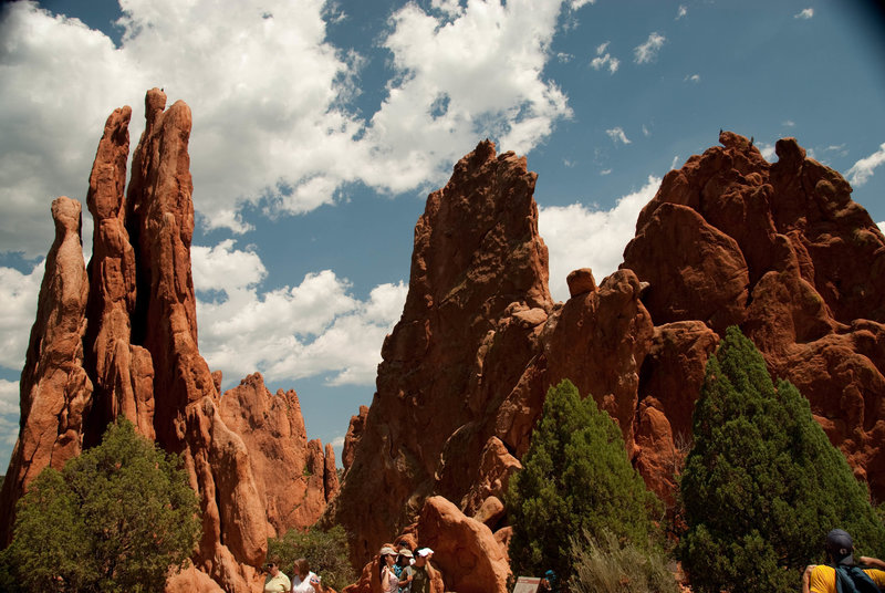 The Three Graces (left) and Cathedral Spires (right) are available to view in detail right from the trail.