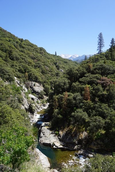The Middle Fork Kaweah River flows peacefully in the spring and summer.