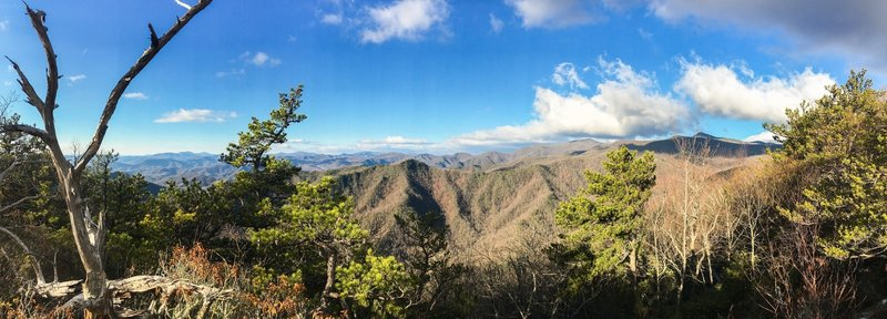 Snooks Nose Overlook offers great views of the surrounding mountainscape.