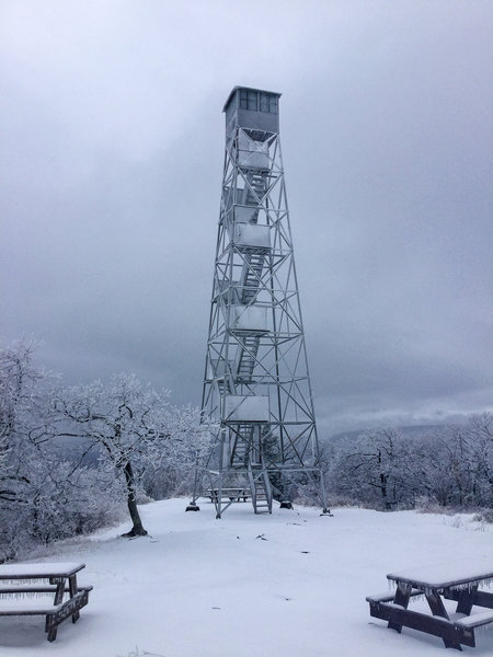 As you can imagine, it was quite windy and cold atop the firetower.