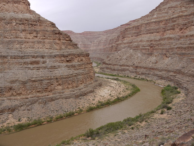 The San Juan River looks beautiful from the Honaker Trail.