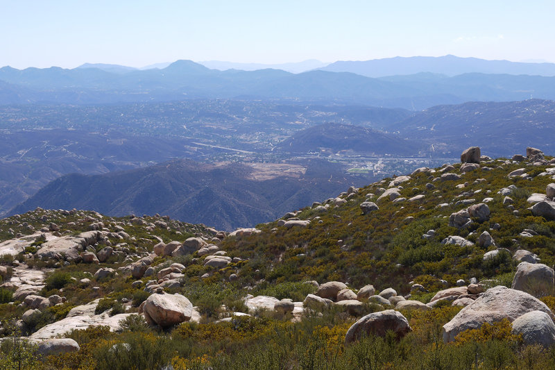 Enjoy this view to the southwest from the top of El Cajon Mountain.