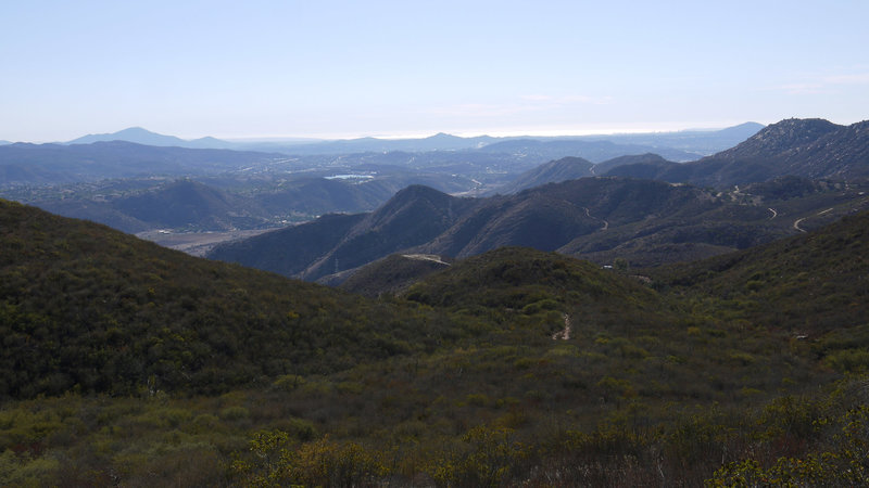It's still a long way back to the trailhead from El Cajon Mountain.