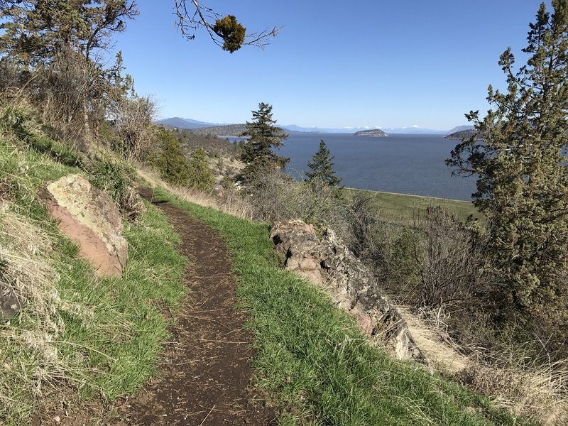 The Klamath Ridgeview Trail offers great views of Klamath Lake.