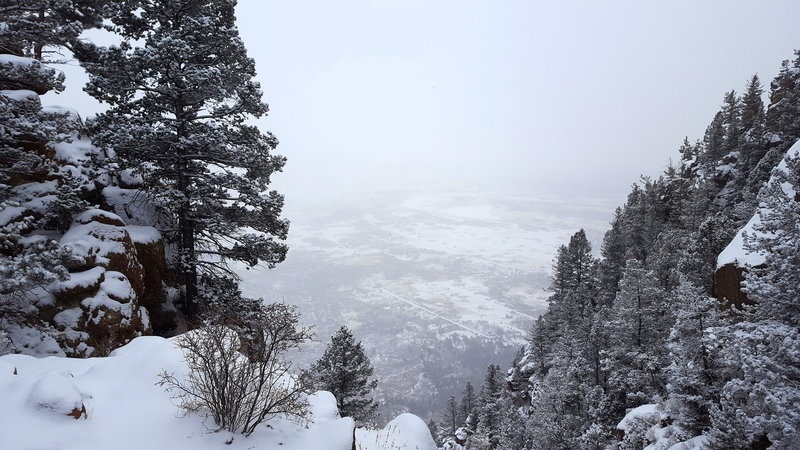 From the top, enjoy a lovely view toward the Air Force Academy.