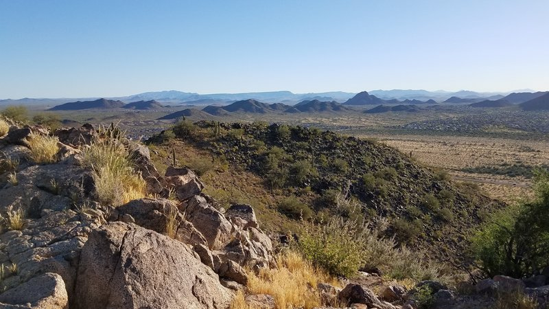 The view is stellar from the top of the Sunrise Mountain Trail.