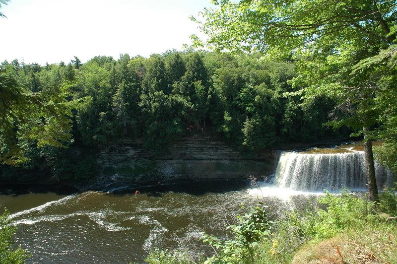 Upper Tahquamenon Falls cascades into its namesake river.