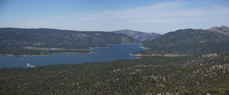 From the top of Bertha Peak, enjoy a 70-degree panorama of Big Bear Lake and the Big Bear Solar Observatory.