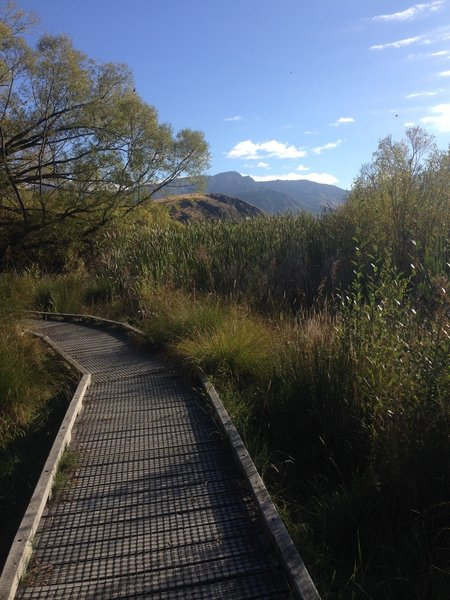 The trails around Lake Hayes are well maintained.