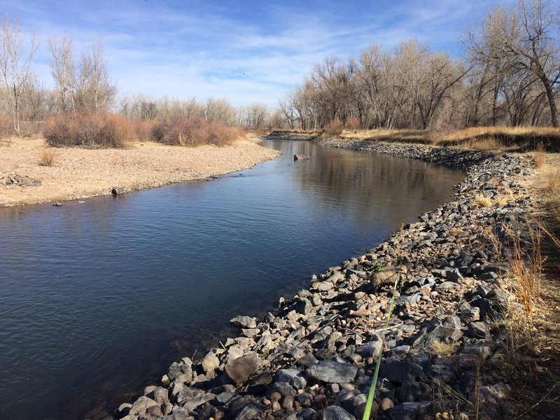 The South Platte River next to the trail.