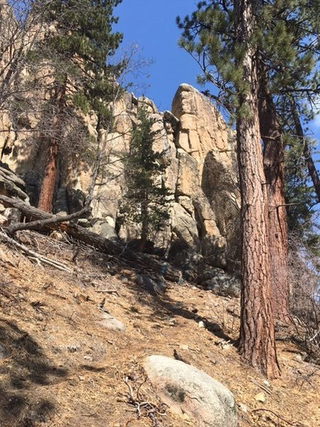 Castle Rock stands tall in Big Bear Lake, CA.